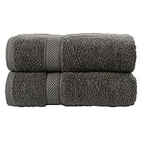 Todd Linens 2-Piece Bale Bath Towel Gift Set - 500 GSM Quick-Dry 100% Cotton Charcoal Bathroom Accessories(Grey, 2 pcs Bath Towels Set)