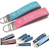Schlüsselanhänger personalisiert aus Filz mit Namen Text Geschenk für Geburtstag Valentinstag Schlüsselband
