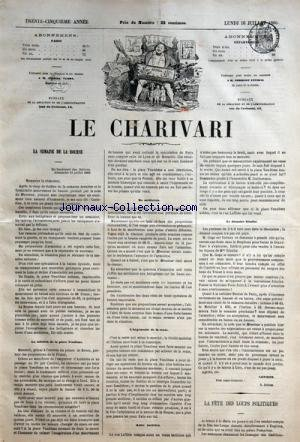 CHARIVARI (LE) du 16-07-1866 LA SEMAINE ...