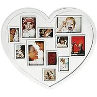 Xxl Corazón Marco de fotos,Portaretratos corazón, para 11 Fotos - imágenes Forma De
