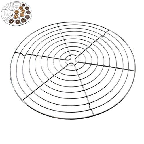 Auskühlgitter Ø 32 cm rund Kuchenauskühler Pâtisserie schnelles Auskühlen extra große Auskühlfläche
