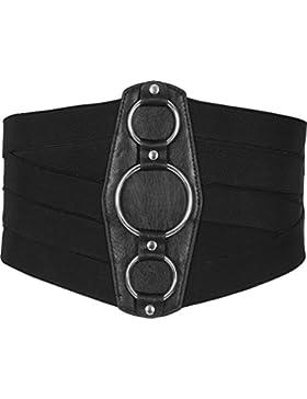 BlackButterfly Cinturón Enrejado Elástico de Corsé de Cintura de 18CM