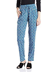 Pepe Womens Relaxed Pants (PL210826_Blue_L)