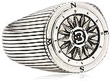 Baldessarini Herren-Ring 925 Sterling Silber rhodiniert Gr.64 (20.4) Y2087R/90/00/64