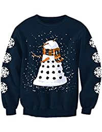 Snowy Dalek Doctor Who Inspired Adults Novelty Christmas Printed Sweatshirt Jumper