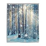 Bad Vorhang für die Dusche 152,4x 182,9cm, Schneeflocke Sunshine natur Landschaft Life Baum, Polyester-Schimmelfest-Badezimmer Vorhang
