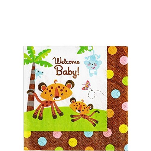 Amscan 200404 Fisher Price Baby Shower boisson Serviettes