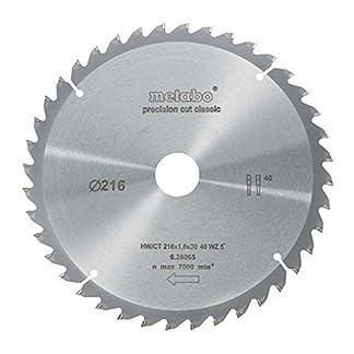 Metabo 628065000 – Disco de corte HW/CT para sierra circular (216 x 30, 40 WZ, ángulo de 5°)