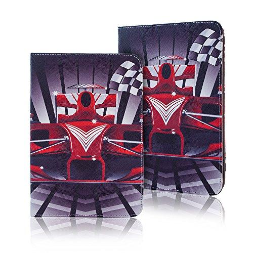 Universal Design Fashion Tasche für verschiedene Tablet Modelle Schutz Case Hülle Cover (9 / 10 Zoll, Formel 1 Auto)