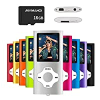 MYMAHDI MP3/MP4 Music Player with 16 GB Micro SD Card(Expandable Up to 128GB),Supporting Photo Viewer,Voice Recorder,FM Radio,E-book and High Quality Earphone Provided Color Silver