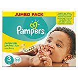 Pampers New Baby Nappies, Size 3 (Total 68 Nappies)