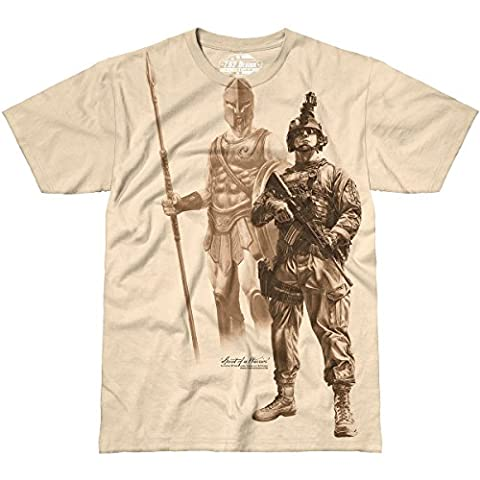 7.62 Design Men's Spirit of a Warrior T-Shirt Sand size L
