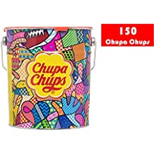 Chupa Chups Caramelo con Palo de Sabores Variados - Lata de 150 unidades de 12 gr