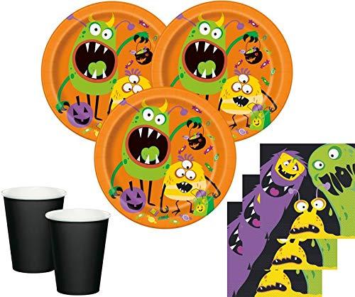 32 Teile Party Deko Set Kleine Monster 8 Personen (Monster-set Kleine)