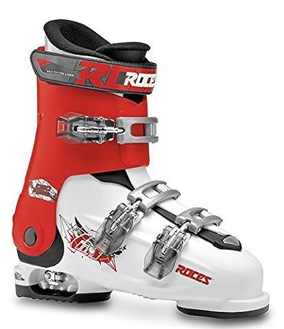 Roces Idea Free 22.5–25.5Children's Ski Boots Children's Adjustable, Children's, IDEA FREE 22.5-25.5, white-Red-Black, UK 4-8 - 25 Scarponi Da Sci