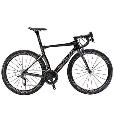 SAVADECK Phantom3.0 Carbon Rennrad 700C Kohlefaser Rennräder Fahrrad mit Shimano Ultegra 8000 22 Speed Schaltgruppe Continental Ultra Sport II 25C Reifen und Fizik Sattel
