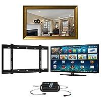 New York TV Mirror Frame, Samsung K5500 1080p Full HD LED SMART TV, Wall Bracket and Infra Red Extender