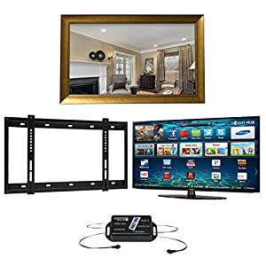 New York TV Mirror Frame, Samsung K5500 1080p Full HD LED SMART TV, Wall Bracket and Infra Red Extender