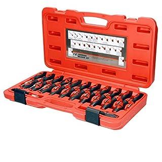 ECD Germany Entriegelungswerkzeug 23-tlg. Auspinwerkzeug Lösewerkzeug Steckkontakte ISO KFZ Stecker Werkzeug System-Kabel Entriegelung