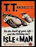 """Motorrad-Nostalgie-Blechschild/Reklameschild, """"TT Races"""