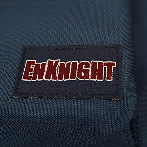 ENKNIGHT-Zaino da spalla, zaino per la scuola a tracolla Grigio (Grigio)