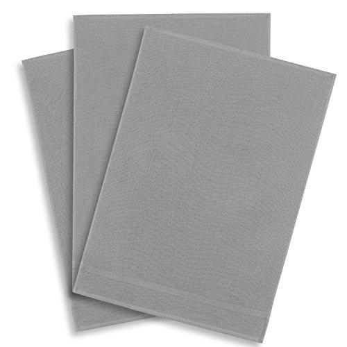 ziczac-affaires KRACHT, 3er-Set Geschirrtuch Multifunktion Baumwolle grau, Edition, ca.50x70cm