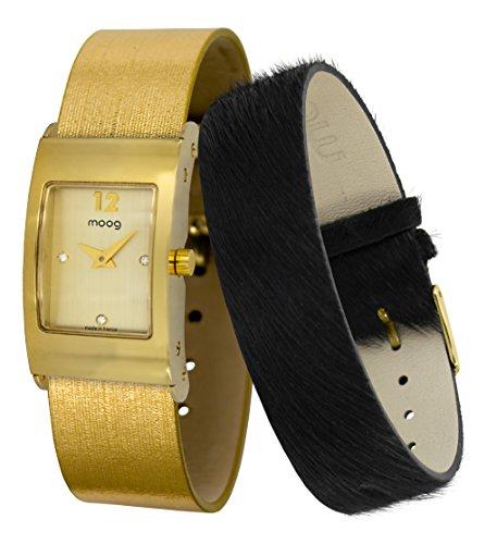Moog Paris Dome Women's Watch with Gold Dial, Gold Jeans Strap & Swarovski Elements - M41662-403