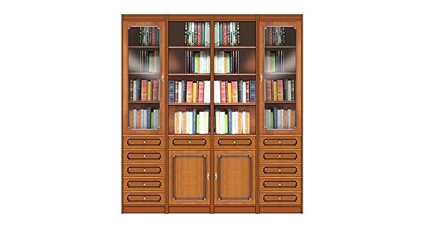 Libreria Vetrina Ufficio : Libreria vetrina modulare da parete per salotto studio ufficio con