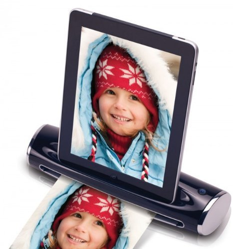 Mustek S400 Dockingstation und Mobiler Scanner (300dpi) für Apple iPad schwarz