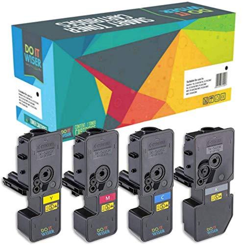 4 Do it Wiser Toner Kompatibel für TK-5220 Kyocera ECOSYS M5521cdw P5021cdw M5521cdn P5021cdn (Schwarz 1200, Farben 1200 Seiten)