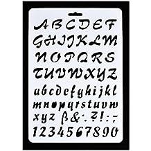 Plantilla con letras del alfabeto y números, 3 unidades