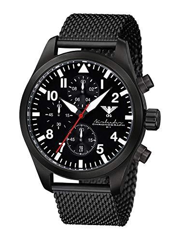 KHS Reloj para Hombre Analógico Cuarzo con Brazalete Acero Inoxidable KHS.AIRBSC.MB