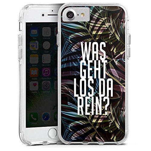 Apple iPhone 6 Bumper Hülle Bumper Case Glitzer Hülle Dschungelcamp Spruch Ich Bin Ein Star Holt Mich Hier Raus Bumper Case transparent