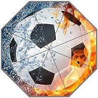 Fútbol balón de fútbol paraguas a prueba de viento paraguas de viaje 8 costillas Manual abrir
