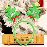 Gaddrt Weihnachtsstirnband Hot Christmas Stirnband Santa Xmas Party Decor Doppel Haarband Verschluss Kopfband 13 * 24 (Grün)