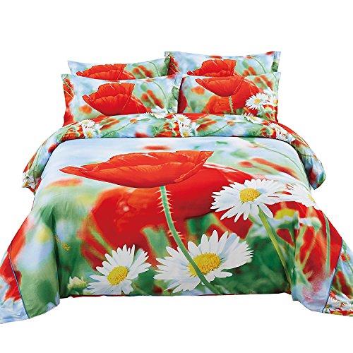 Dolce Bettbezug (Queen Size Bettbezug Floral Betten-Set, Dolce Mela-Fleurs dm508q)