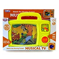 Unibos Musical TV Toy with Moving Screen Nap Time Toy - Suitable From 12 Months +