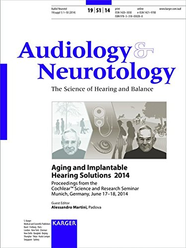 Aging and Implantable Hearing Solutions 2014 : Cochlear Science and Research Seminar, Munich, June 2014: Proceedings. Supplement Issue: Audiology and Neurotology 2014, Vol. 19, Suppl. 1