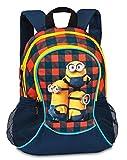 Kinder Rucksack - Minions - Kinderrucksack - mit Hauptfach und Nebenfach Getränkenetz