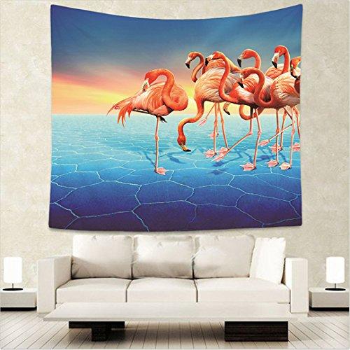 Wlid Tiere der Afrikanischen Savanne Wandbehang Wandbild der König Löwe Flamingo Giraffe gedruckt Tapestry - Teal Grau-wand-kunst