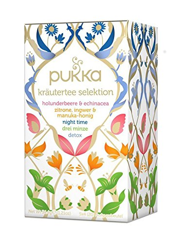 PUKKA Bio Kräutertee Selektion, 1er Pack (20 x 1,7 g Teebeutel) - BIO