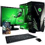 Vibox VBX-PC-5419 Ultra Paket 11XLW 54,6 cm (21,5 Zoll) Gaming Desktop-PC (AMD A Series A8-7600, 32GB RAM, 2TB HDD, AMD Radeon R7, Win 10 Home) grün