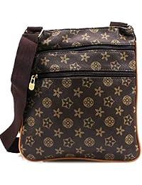 afe3cbc4ddeb Designer Check Checkered Monogram Unisex Man Bag Saddle Cross Body  Messenger Record Bag Travel Pouch