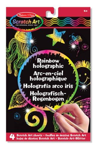 Melissa & Doug 15805 - Scratch-Art-Blätter: Holografisch - Regenbogen