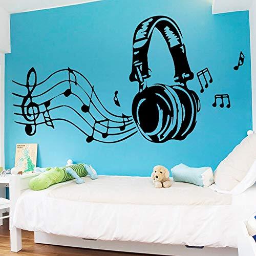 Zmyz adesivo da parete cuffie artistiche adesivi murali arredamento camera da letto decorazione casa accessori camera carta da parati home decor