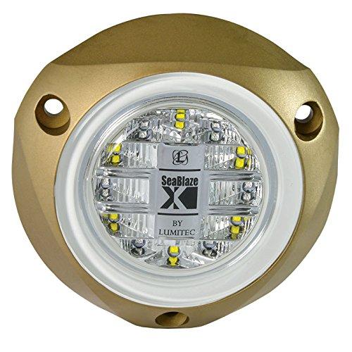 Lumitec SeaBlazeX LED Unterwasserleuchte Bootlicht Aufputz Stroboskop Cross Fade, 101143, Green Light Output (Marine Shoreline Led)