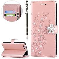 iPhone 6S Plus Hülle,iPhone 6 Plus Hülle,SainCat Retro Schön 3D Pflaumenblüte Blumen Muster Ledertasche Handyhülle... preisvergleich bei billige-tabletten.eu