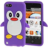Coque silicone cartoon Pingouin pour ipod touch 5 et ipod touch 6 violet