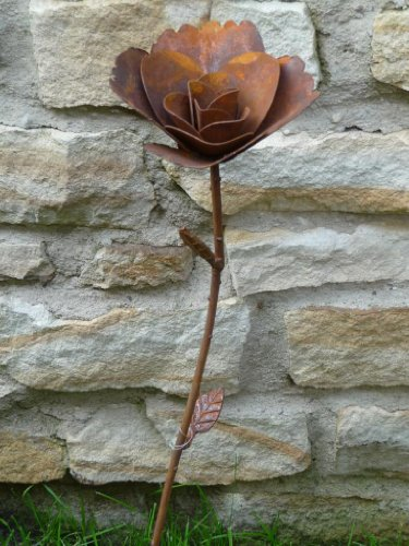 Gartenstecker Dekoblume ROSE Metall