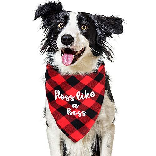 VAMEI Hunde-Halstuch Bandana, Haustier Kopftuch Kopftücher Lätzchen Kariertes Reversible Dreieck Schal für Hunde Katzen Kostüm